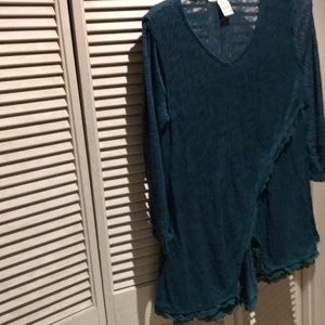 American Rag Blue-Green Sweater Sz 1x